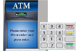 Secured ATM's Touchpad